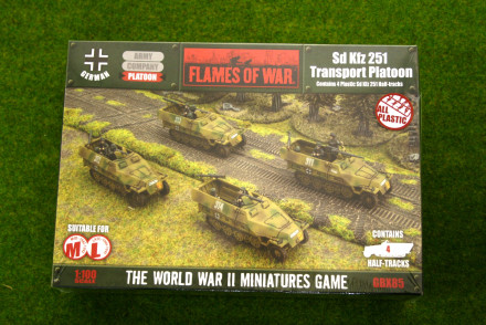 Flames of War German Sd Kfz 251 Transport Platoon 15mm GBX85