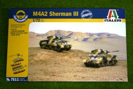 Italeri M4A2 SHERMAN III FAST ASSEMBLY 1/72 kit 7511