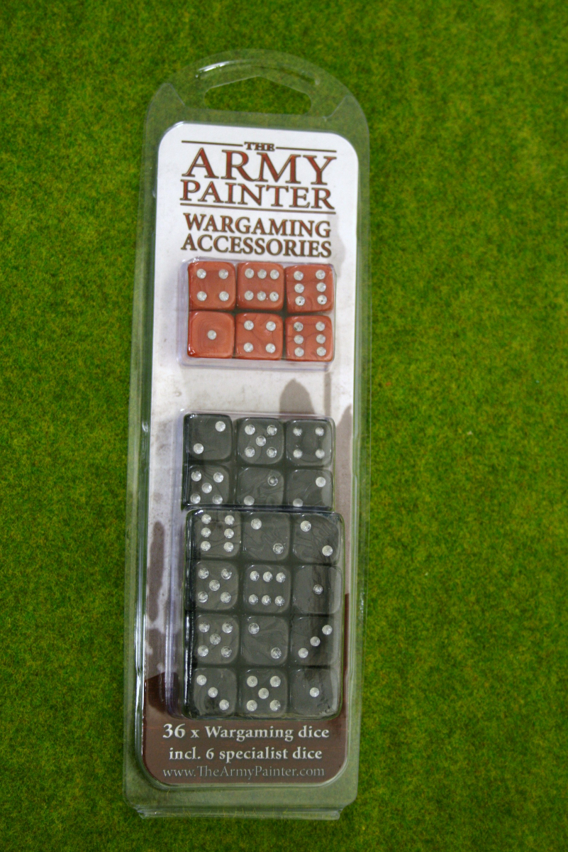 36 x Wargaming DICE 14mm Black & Red from Army Painter