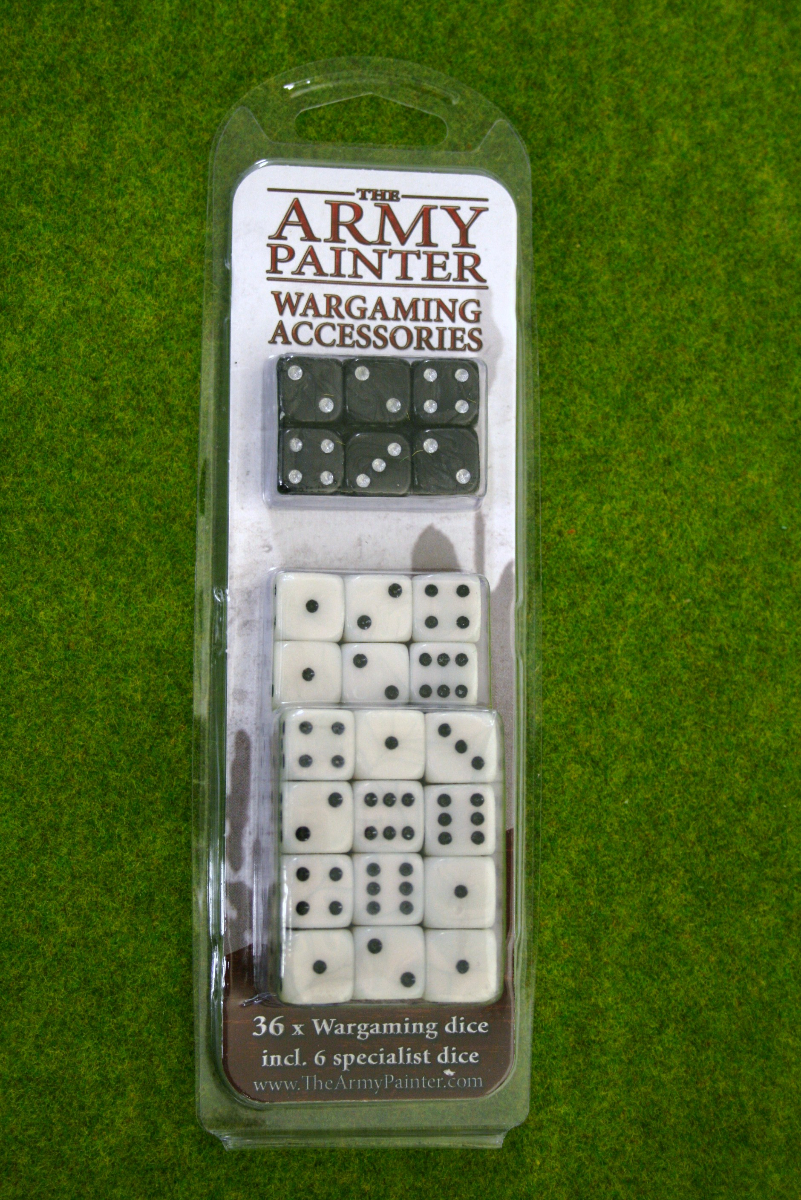 36 x Wargaming DICE 14mm White & Black from Army Painter