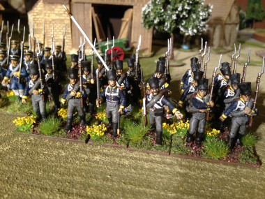 The Prussian advance was halted when the Park keeper shouted 'get off them flowers!'...