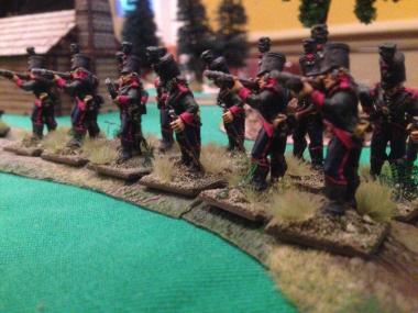 60th Rifles prepare to fire!