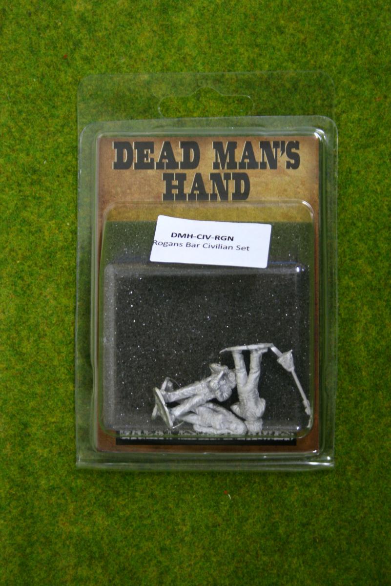 DEAD MANS HAND CIVILIANS Rogans Bar Set for Old west Skirmish games 28mm