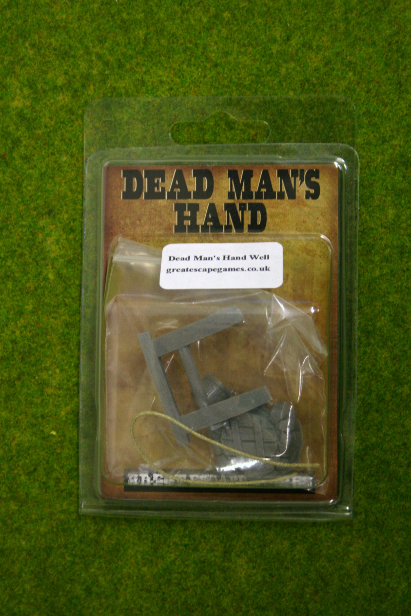 DEAD MANS HAND Well with Rope & Bucket for Old west Skirmish games 28mm