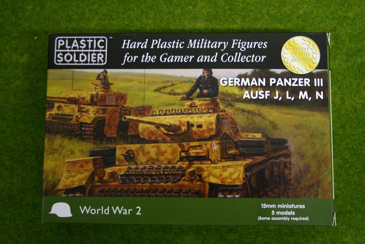 Plastic Soldier Company WW2 GERMAN PANZER III Ausf. J L M N 15mm