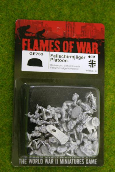 Flames of War GERMAN Fallschirmjager Platoon Battleworn 15mm GE763
