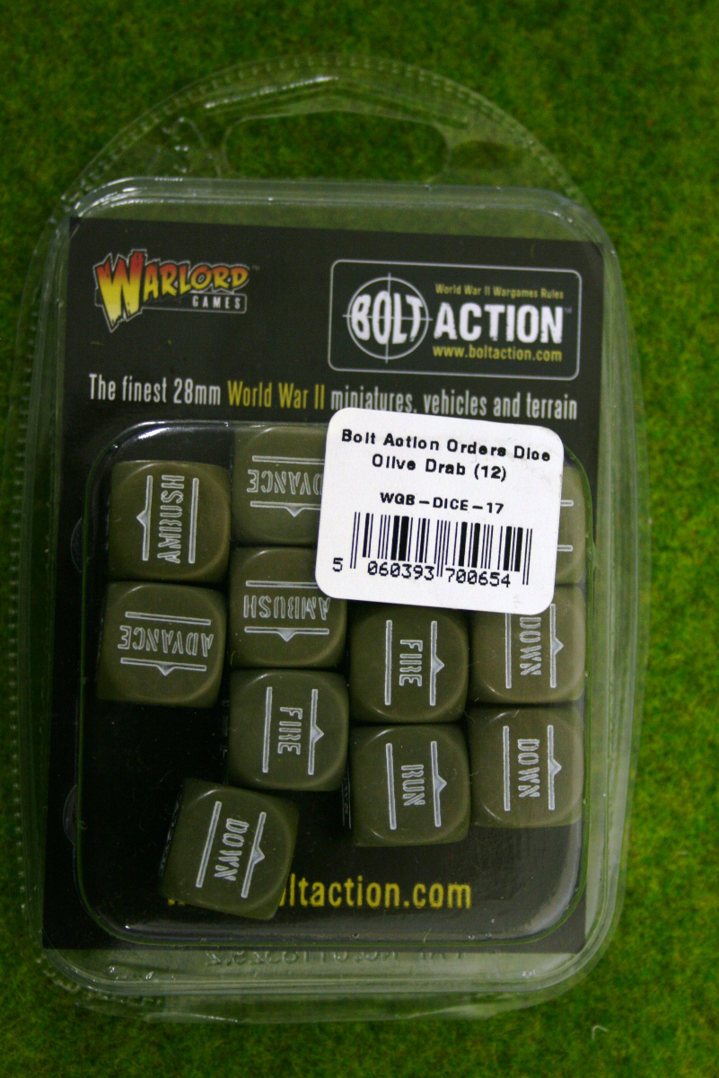 Bolt Action ORDERS DICE SET of 12 – OLIVE DRAB