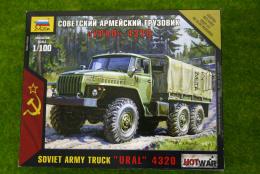 """Zvezda Soviet Army Truck """"URAL"""" 4320 Hot War 1/100 scale 7417"""