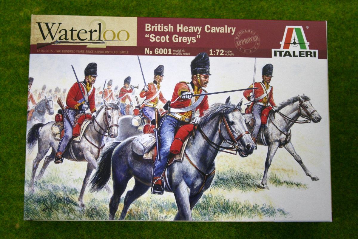 British Heavy Cavalry 'Scots Greys' 1815 Waterloo 200 1/72 Italeri Napoleonic 6001