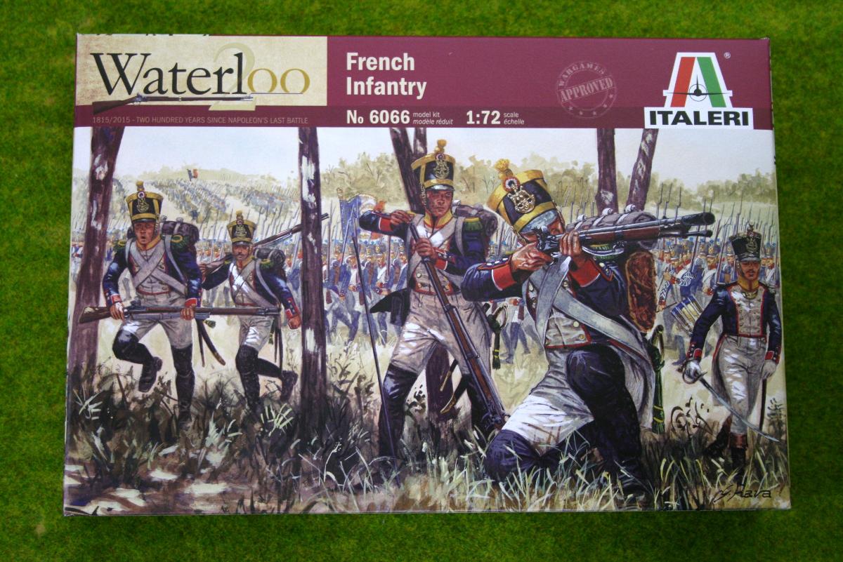 French Infantry Waterloo 200 1/72 Italeri Napoleonic set 6066