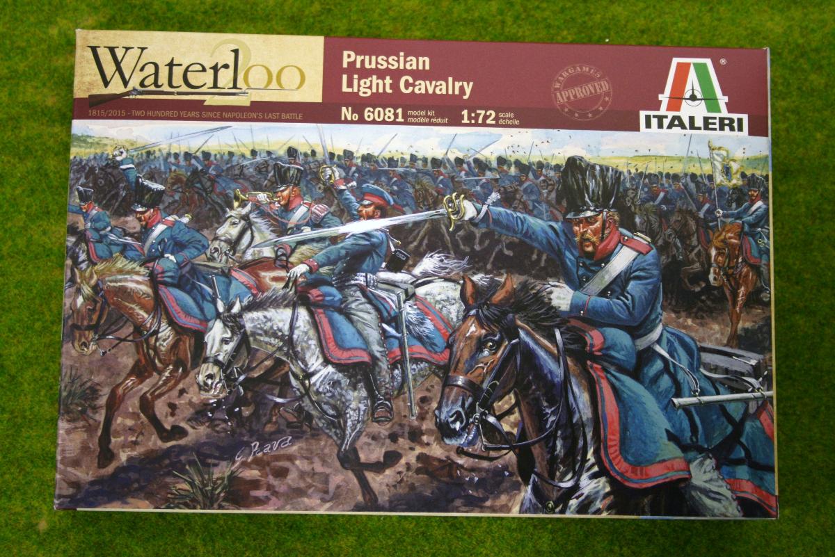 Prussian light Cavalry Waterloo 200 1/72 Italeri Napoleonic set 6081