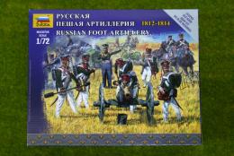 Zvezda RUSSIAN ARTILLERY 1812 – 1814 kit 6809