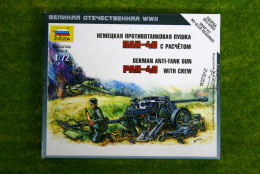 Zvezda GERMAN ANTI TANK GUN PAK-40 with crew 1/72 6257