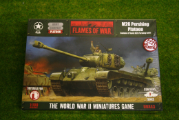 Flames of War US M26 Pershing Platoon PLASTIC 15mm UBX43