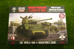 Flames of War US M4A3 (late) Platoon PLASTIC 15mm UBX44