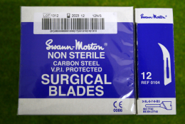 Box of 100 Spare Blades for Swann Morton Scalpels no 12