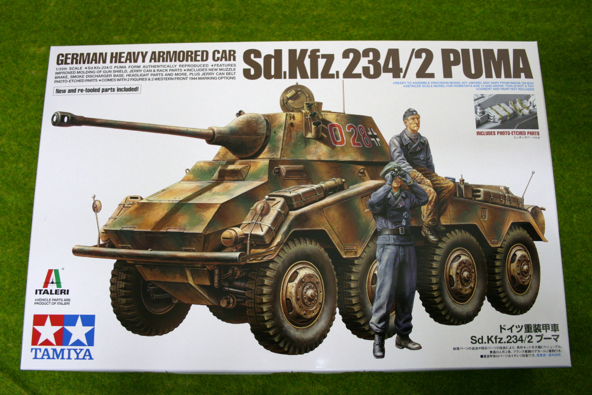 Tamiya German Armoured Car Sd.Kfz. 234/2 PUMA 1/35 Scale Kit 37018