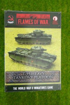 Flames of War Soviet T-35 Heavy Tankovy Platoon 15mm SBX23