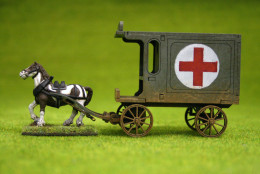 Gas Lamp Alley HORSE DRAWN DELIVERY VAN & Horse Sarissa Precision 28mm G057