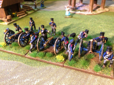 The New Prussian Artillery at drill in Little Bingham!