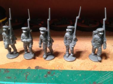 Osterode Landwehr Battalion advance to the work bench....