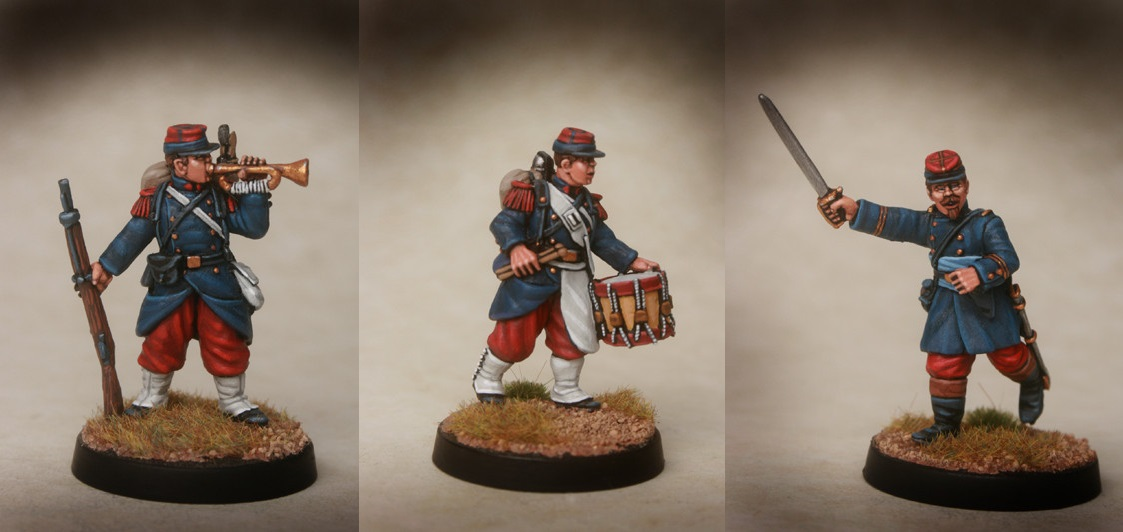 French Line Infantry Command Footsore Miniatures Franco Prussian War 06FPF100