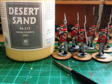 Work in progress - More Hanoverians! And my new favourite basing material...
