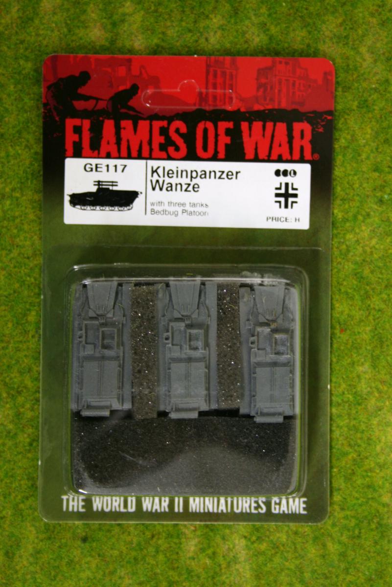 Flames of War KLEINPANZER WANZE German Late War 15mm GE117