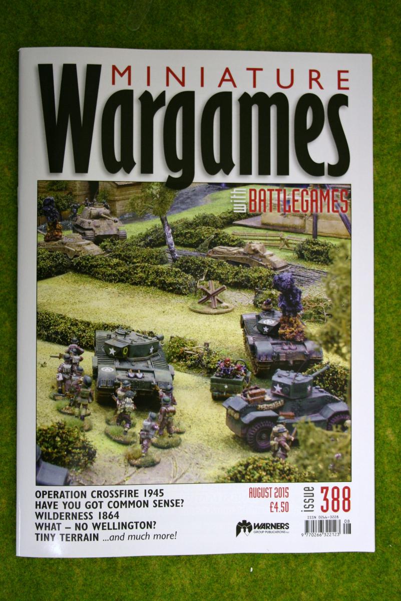 MINIATURE WARGAMES ISSUE 388 August 2015 MAGAZINE
