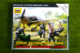 Zvezda GERMAN AIRFORCE GROUND CREW & Accessories 1/72 6188