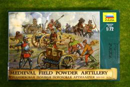 Medieval Field Powder Artillery XIV – XV A.D. 1/72 Zvezda 8027