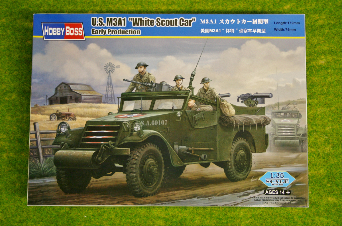 """US M3A1 """"WHITE SCOUT CAR"""" Early Production 1/35 Scale Hobby Boss 82451"""