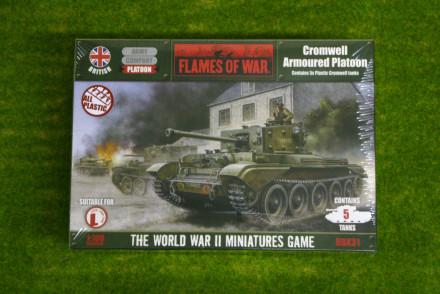 Flames of War British Cromwell Platoon PLASTIC 15mm BBX31