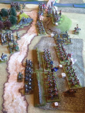 British advance to drive the Poles back