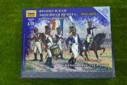 Zvezda FRENCH NAPOLEONIC LINE INFANTRY COMMAND GROUP kit 6816