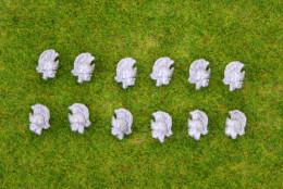 Trent Miniatures BRITISH LIGHT DRAGOONS 'Tropical Helmet' SEPARATE HEADS EDZ#10