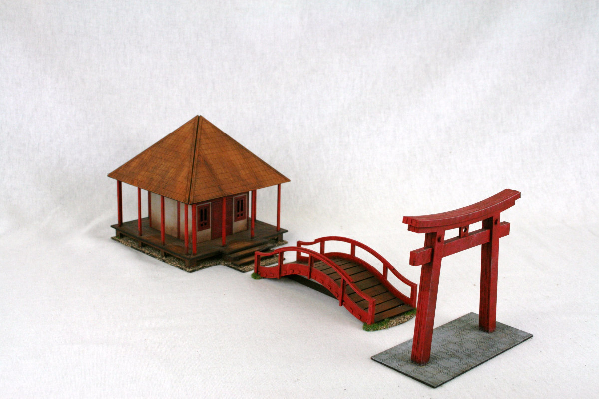 Samurai Japanese Temple Shrine Torii Gate Amp Bridge Set