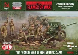 Soviet Zis Gun Battery Flames of War PLASTIC 15mm SBX34