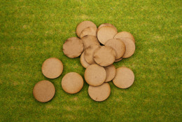 32mm Round LASER CUT MDF 2mm Wooden Bases for Wargames