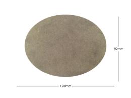 120x92mm Oval LASER CUT MDF 2mm Wooden Bases for Wargames