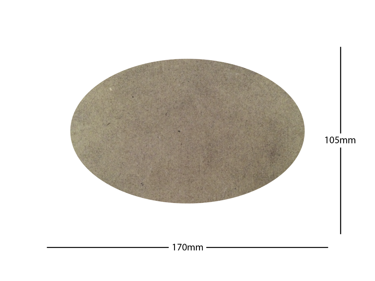 170x105mm Oval LASER CUT MDF 2mm Wooden Bases for Wargames