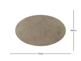 75x46mm Oval LASER CUT MDF 2mm Wooden Bases for Wargames