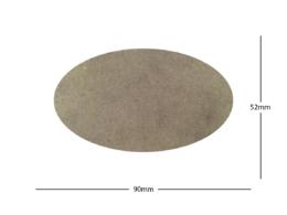 90x52mm Oval LASER CUT MDF 2mm Wooden Bases for Wargames