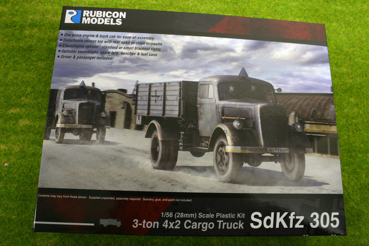 Rubicon Models German SdKfz 305 3-Ton 4×2 Cargo Truck – Opel Blitz 1/56th scale 28mm RU017
