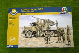 Italeri AUTOCANNOE 3RO w. 90/53 AA Gun Quick Build 1/72 kit 7508