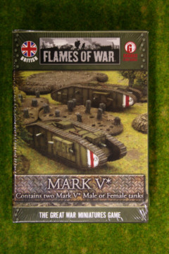 Flames of War British Mark V* Tank 15mm GBBX03