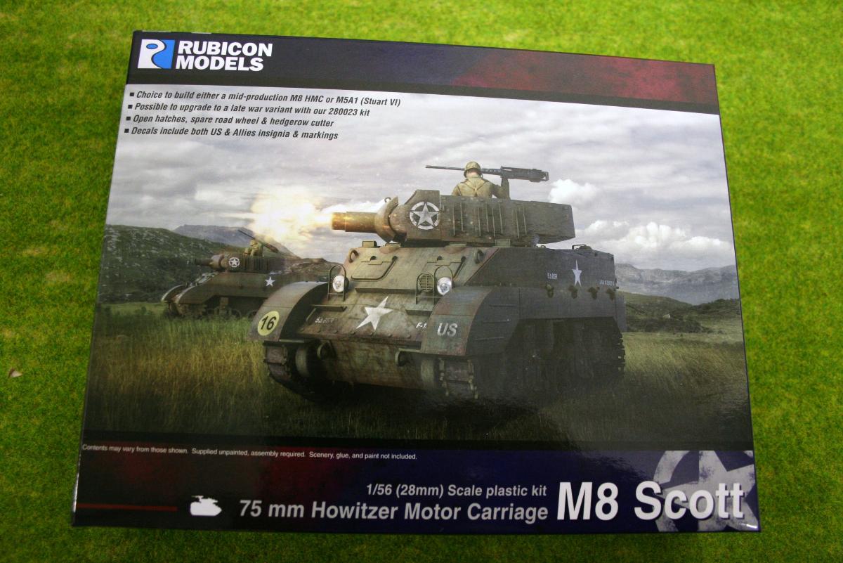 Rubicon Models M8 Scott/ M5A1 Stuart 1/56th scale 28mm RU015