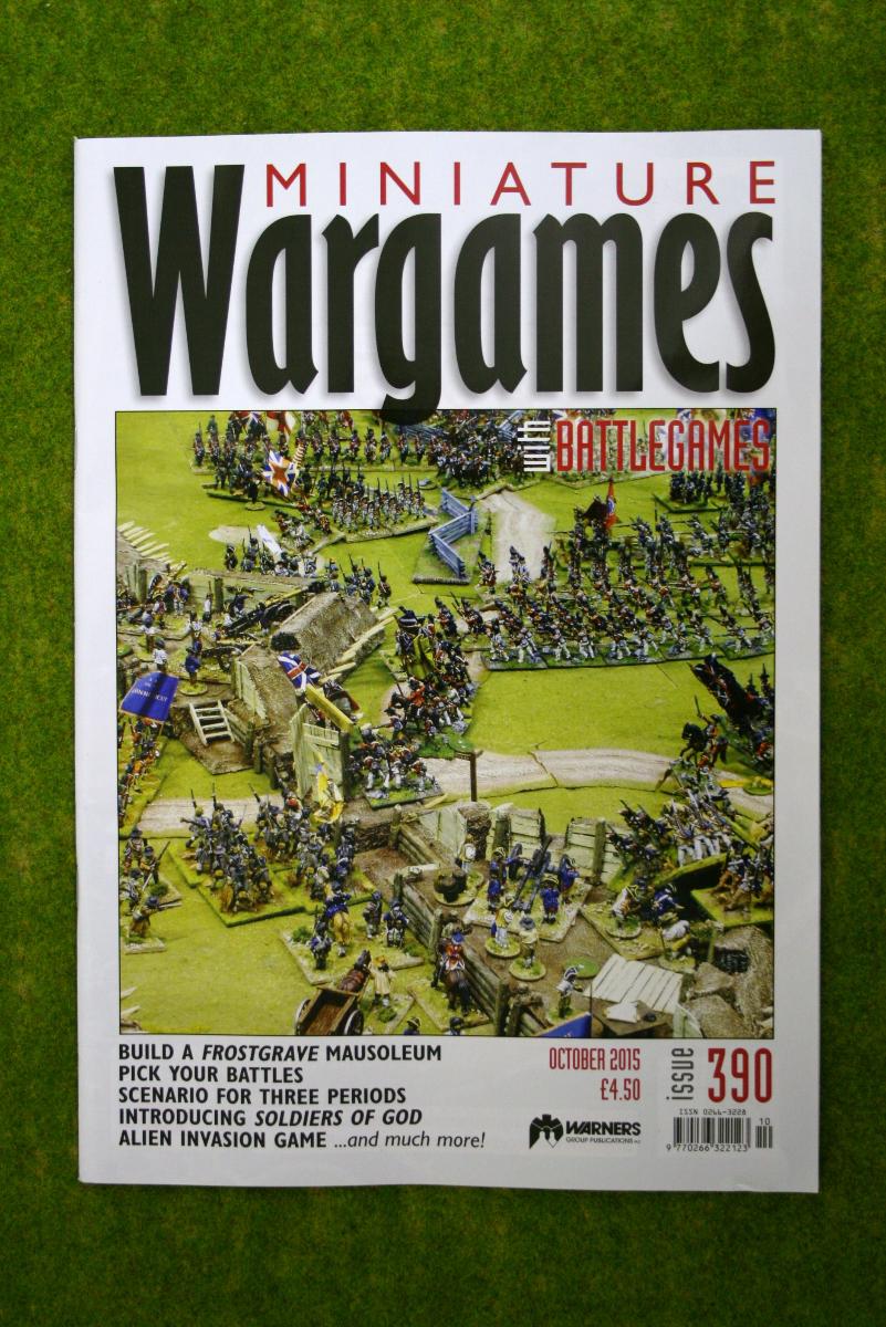MINIATURE WARGAMES ISSUE 390 October 2015 MAGAZINE