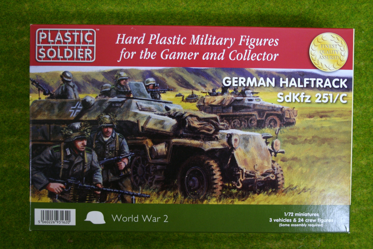 Plastic Soldier WW2 GERMAN HALFTRACK SdKfz 251/C 1/72nd scale 20mm