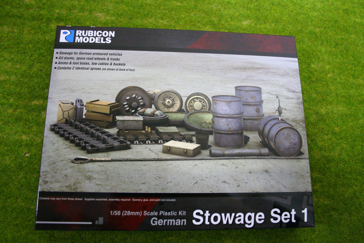 Rubicon Models German Stowage Set 1 1/56th scale 28mm RU01013
